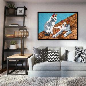 Wandbild Katzen